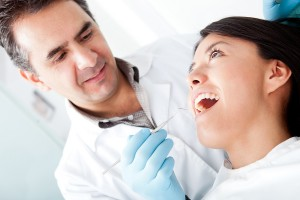 Picture of patient receiving root canal therapy